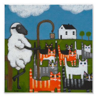 Sheep Herding Cats Poster