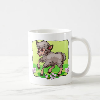 Sheep In Flowers Coffee Mug