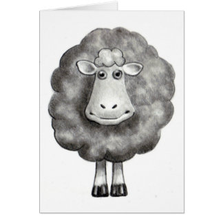 SHEEP IN PENCIL GREETING CARD