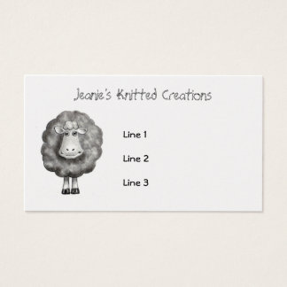 SHEEP in Pencil: Knitter, Crafter, Wool Business Card