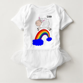 Sheep jumping the rainbow baby bodysuit