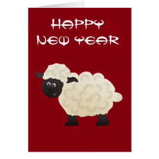 Sheep Lunar New Year Greeting Card
