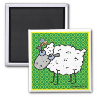 Sheep Square Magnet