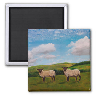 Sheep May Safely Graze Square Magnet