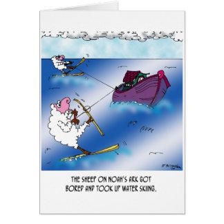 Sheep on the Ark Water Ski Card