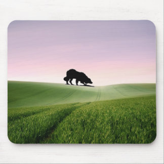 Sheep on the horizon...Border Collie Mousepad