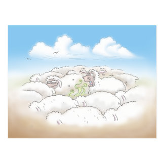 Sheep Out on the Range Postcard