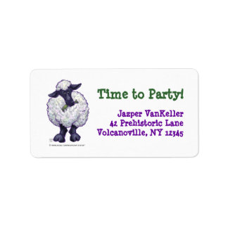 Sheep Party Centre Label