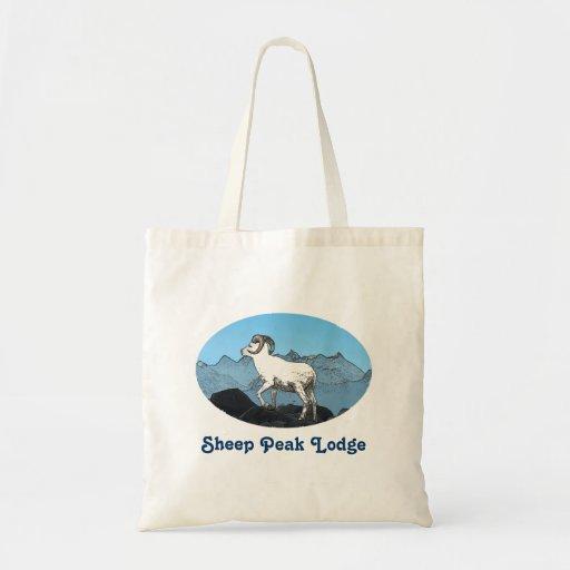 Sheep Peak Lodge Tote Bags