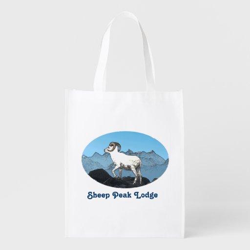 Sheep Peak Lodge Reusable Grocery Bag