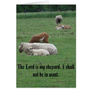 Sheep, Psalm, Peace, Joy, Love Card