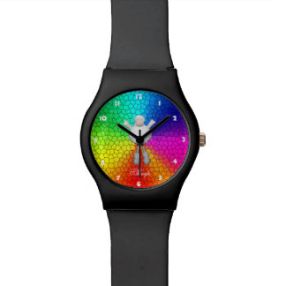 Sheep Rainbow Colors Wrist Watches