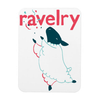 Sheep Ravelry Magnet