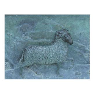 Sheep Relief Postcard