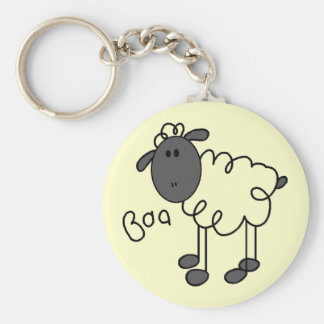 Sheep Says Baa T-shirts and Gifts Basic Round Button Key Ring