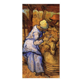 Sheep Shearers by Vincent van Gogh Personalized Photo Card