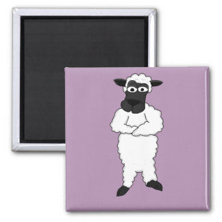 Sheep Square Magnet