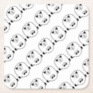 Sheep Square Paper Coaster