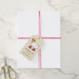 Sheep theme knitters gift tag