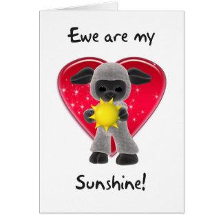 Sheep Valentine's Day Card - Ewe Are My Sunshine