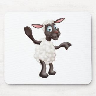 Sheep waving and pointing mousemat