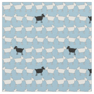 Sheep white black fun animal herd fabric