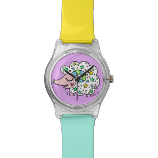 Sheep (white) of star handle watch