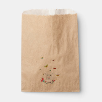 Sheep with flowers and butterflies Z1mk7 Favour Bags
