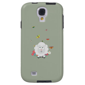 Sheep with flowers and butterflies Z1mk7 Galaxy S4 Case