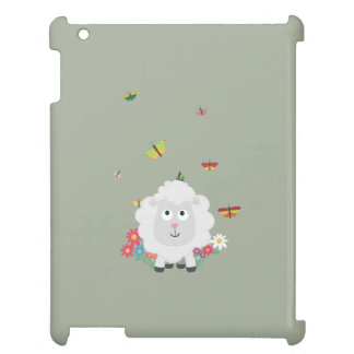Sheep with flowers and butterflies Z1mk7 iPad Covers