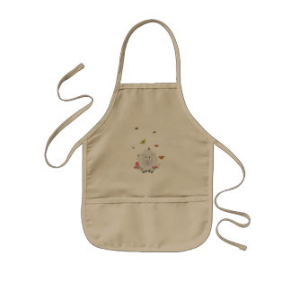 Sheep with flowers and butterflies Z1mk7 Kids Apron