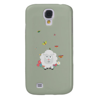 Sheep with flowers and butterflies Z1mk7 Samsung Galaxy S4 Case