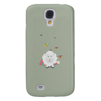 Sheep with flowers and butterflies Z1mk7 Samsung Galaxy S4 Cases