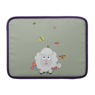 Sheep with flowers and butterflies Z1mk7 Sleeve For MacBook Air