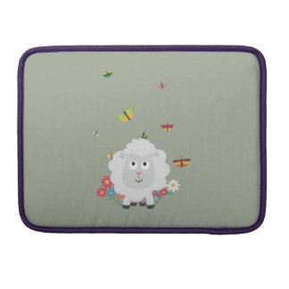 Sheep with flowers and butterflies Z1mk7 Sleeve For MacBook Pro