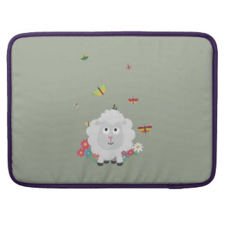 Sheep with flowers and butterflies Z1mk7 Sleeve For MacBooks
