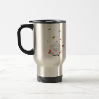Sheep with flowers and butterflies Z1mk7 Travel Mug