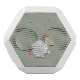 Sheep with flowers and butterflies Z1mk7 White Bluetooth Speaker