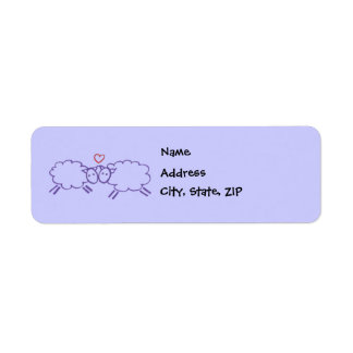 Sheep with Heart Return Address Label