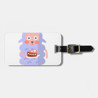 Sheep With Party Attributes Girly Stylized Funky S Luggage Tag