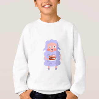 Sheep With Party Attributes Girly Stylized Funky S Sweatshirt