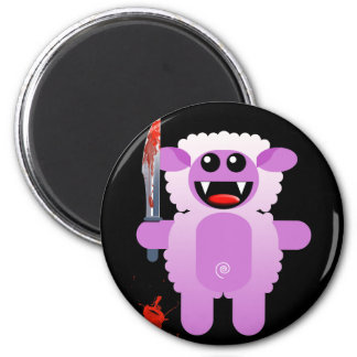 SHEEP WITH SHARP KNIFE FRIDGE MAGNETS