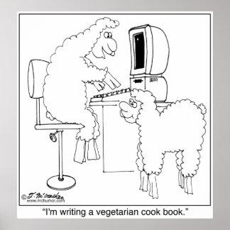 Sheep Write Veggie Cook Book Poster