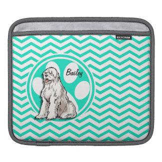 Sheepdog Aqua Green Chevron iPad Sleeves