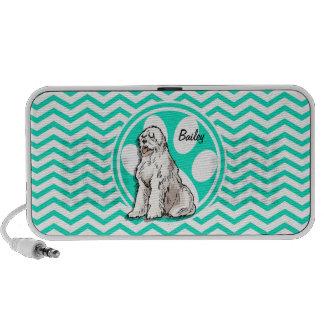 Sheepdog Aqua Green Chevron Mp3 Speaker