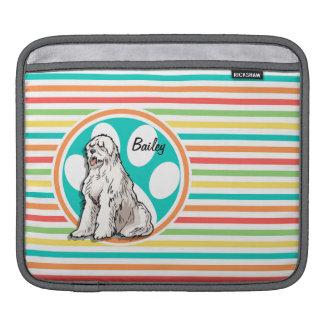 Sheepdog Bright Rainbow Stripes Sleeve For iPads
