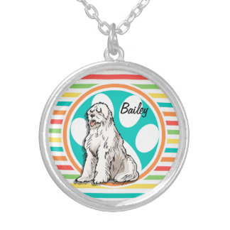 Sheepdog Bright Rainbow Stripes Jewelry