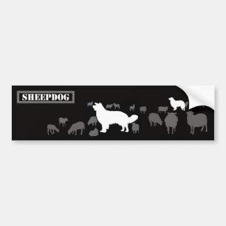 Sheepdog - long bumper sticker