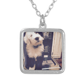 Sheepdog Love Silver Plated Necklace