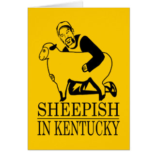 Sheepish In Kentucky Card